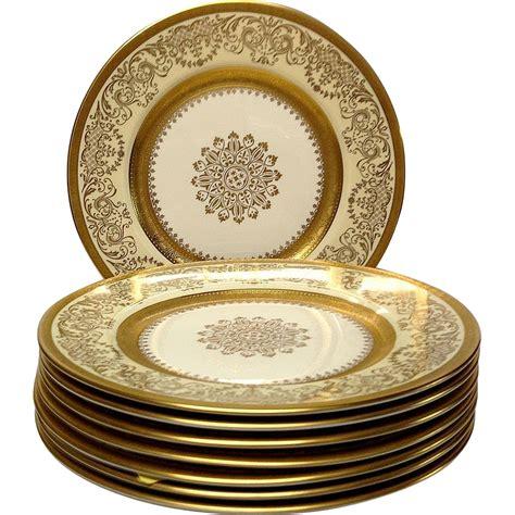 gold dining set plates set 8 edgerton pickard gold encrusted dinner plates from