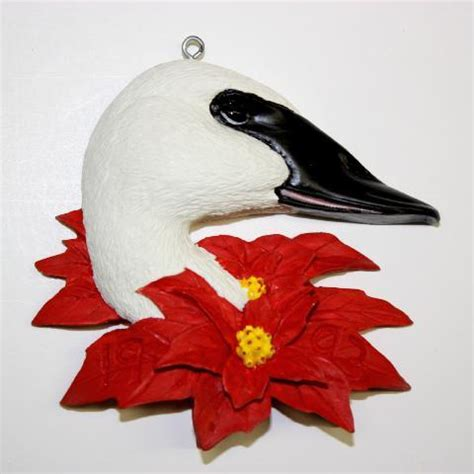 trumpeter swan christmas tree ornament overboard art