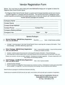 vendor form template free vendor registration form template template