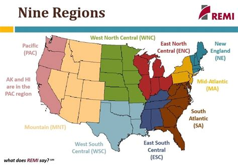 8 regions of the united states map 8 regions of the united states map