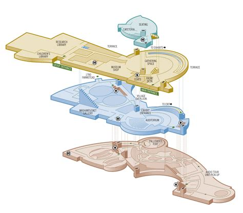 floor plan museum 3d museum floorplan illustration