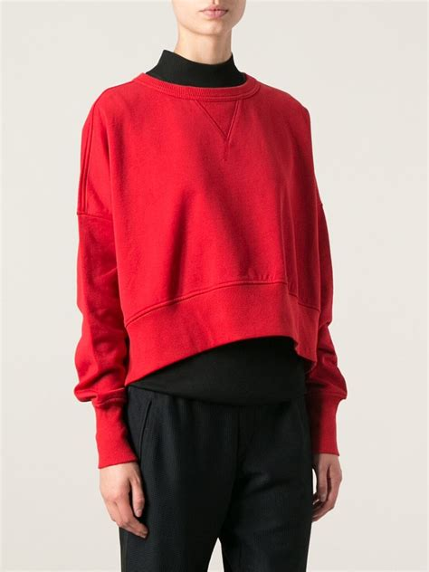 Cropped Sweatshirt lyst y 3 cropped sweatshirt in