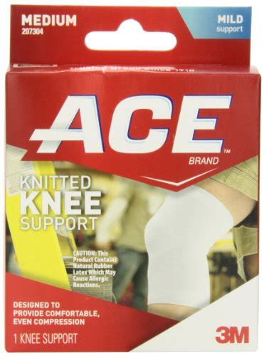 ace knitted knee support 3m ace knitted knee support medium