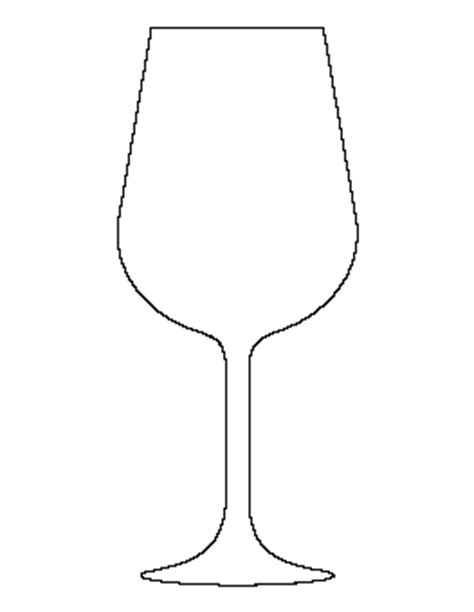 wine glass template free shape and object patterns for crafts stencils and