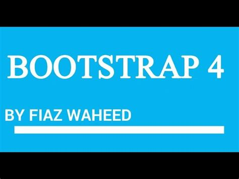 bootstrap tutorial in urdu youtube bootstrap grid system part 1 lec 8 bootstrap 4 beta