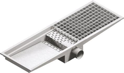 caniveau cuisine caniveau de sol 40x100 sortie horizontal professionnel