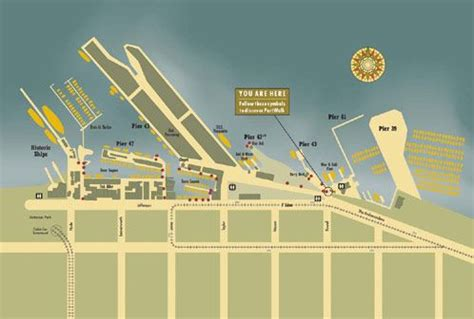 san francisco harbour map fisherman s wharf port walk map san francisco cruise