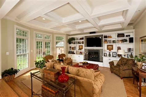 family room pics family room with coffered ceilings family room dc