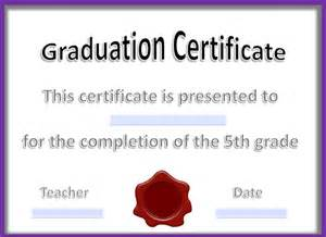 College Graduation Certificate Template by 14 Graduation Certificate Templates Word Pdf Documents