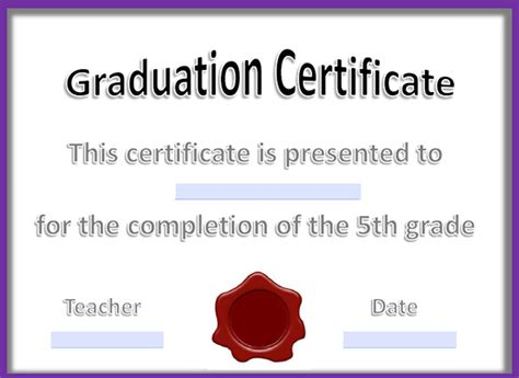 18 Graduation Certificate Templates Word Pdf Documents Download Free Premium Templates Graduation Certificate Template