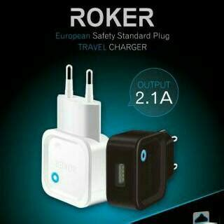 Kabel Data Micro Usb Roker 2 1a Ere Fast Charging T1910 roker travel charger original output 2 1a fast charging micro usb elevenia