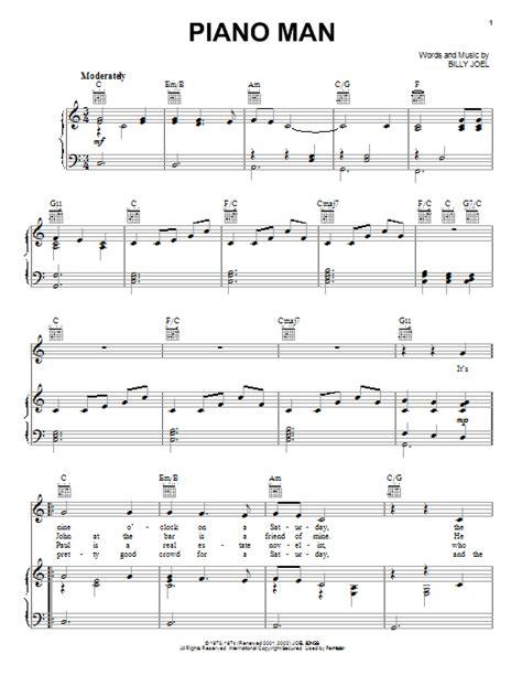 Guitar Chords Piano Man