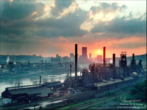 Pittsburgh L view from hazelwood pittsburgh pa j steel mill 1977