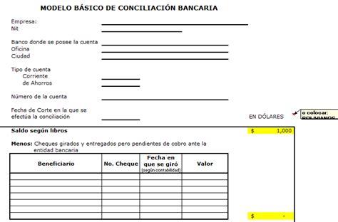 formato nota de credito ejemplo hoja pdf reader pedido modelo excel de conciliacion bancaria bolivia impuestos blog
