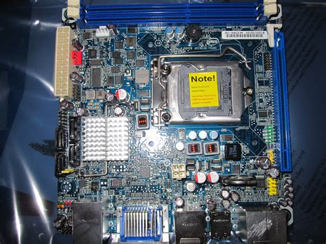 layout of pc motherboard intel boxdh57jg h57 mini itx motherboard review servethehome