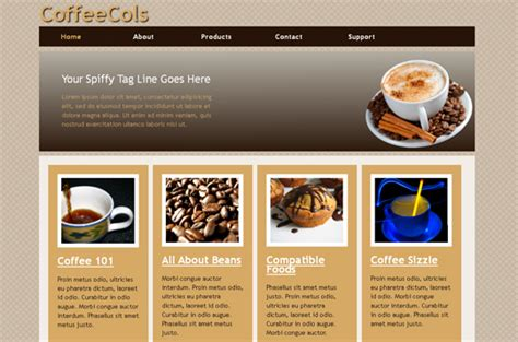 Free Html5 And Css3 Templates You Should See Smashingapps Com Free Coffee Website Templates