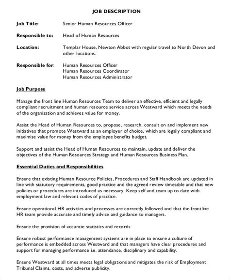 hr assistant description 10 free word pdf documents free premium templates