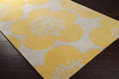 Yellow Area Rug Yellow Floral Area Rug Best Decor Things