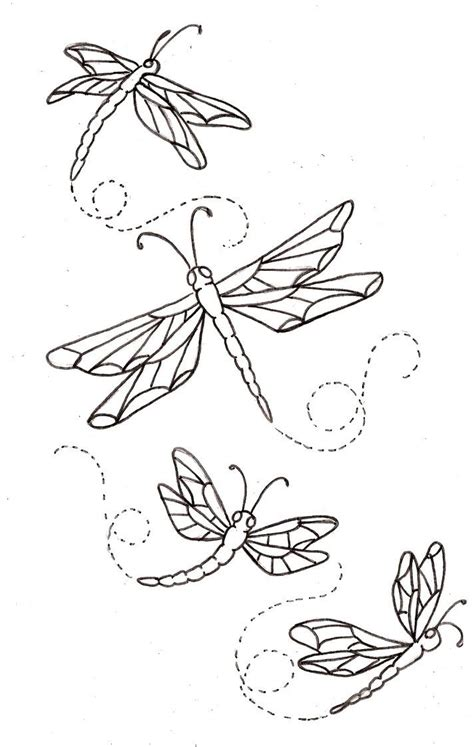 tattoo tracing pen colour it sew it trace it etc dragonfly drawings