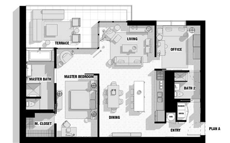 single loft floor plan interior design ideas