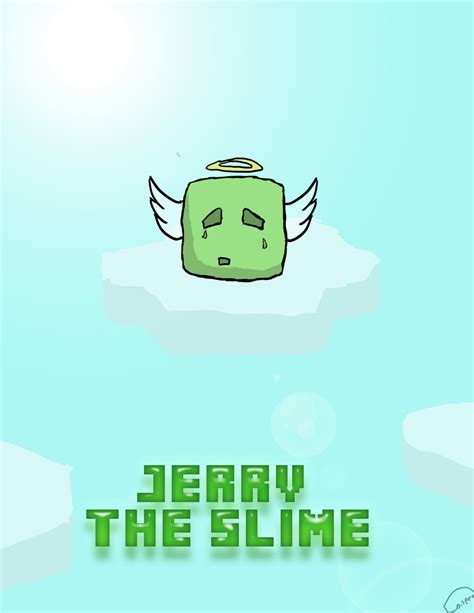 captainsparklez jerry captainsparklez survival lp jerry the slime poster by