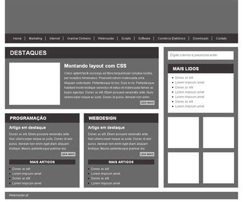 layout para blog em html css cria 231 227 o de layout webmaster pt