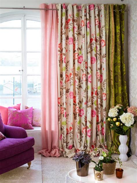 Colorful Curtains Six Different Ways