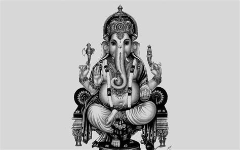black and white wallpaper of god ganesh painting black and white www imgkid com the