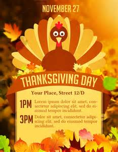 Thanksgiving Flyer Thanksgiving Day Flyer Flyer Templates On Creative Market