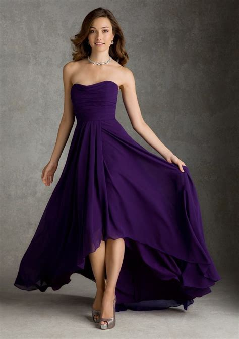 Trend Of The Week Purple Strapless Dresses by Fashion Strapless Bridesmaid Dresses Pleated Purple