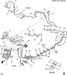 Brake Line Diagram For 2000 Pontiac Grand Prix Oldsmobile Intrigue Brake Lines