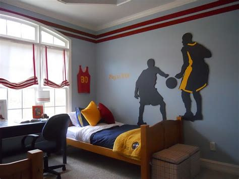 basketball bedrooms sport themed bedrooms ideas we can choose for boys bedroom
