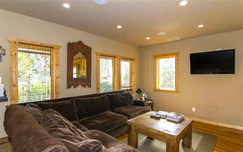 recessed lighting living room river rock wood siding and gables oh my soulful abode