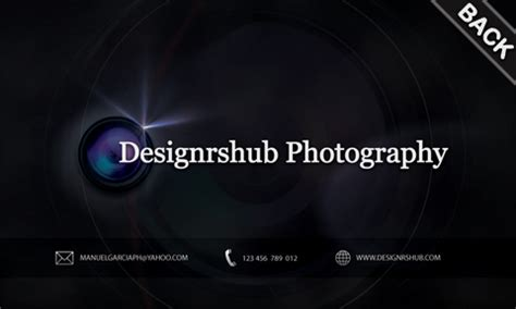 free photography templates free business card psd template for photographers