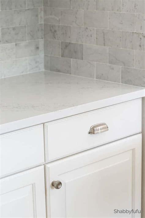 marble tile kitchen backsplash carrara marble tile backsplash kitchen reveal shabbyfufu
