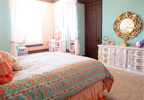 gold and coral bedroom katy mimari s glam big girl room project nursery