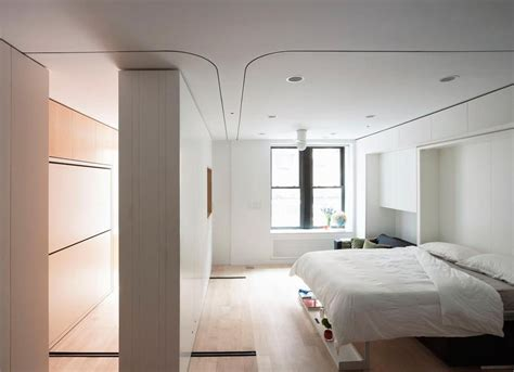 compact smart studio apartment  soho  moving wall