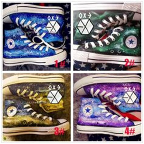 Sepatu Canvas Custom Kpop Exo Galaxy kpop styles