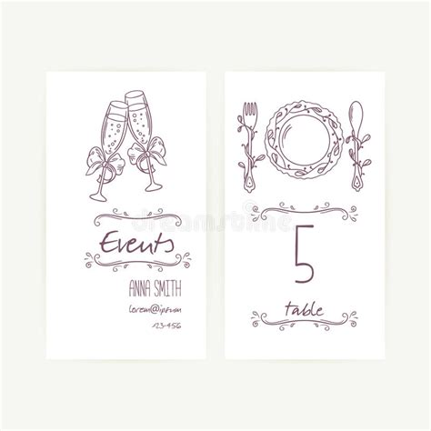 Wedding Table Setting Cards Templates by Set Of Wedding Card Templates With Monochrome