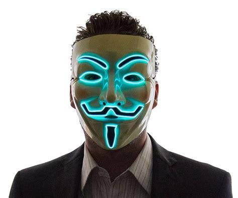 light up face mask light up v for vendetta mask want that com