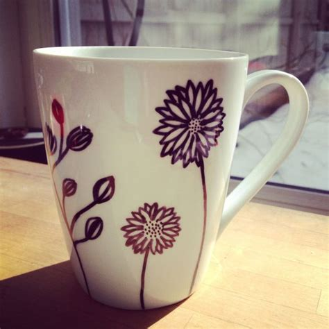 tutorial design mug decorate mugs with sharpies porcelain designs diy