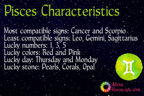 pisces traits personality and characteristics