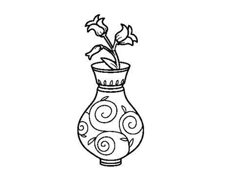 disegni di vasi disegno di fiore di convolvoli in un vaso da colorare