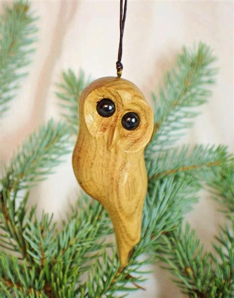 owl tree ornaments wooden owl tree ornament handmade window carving