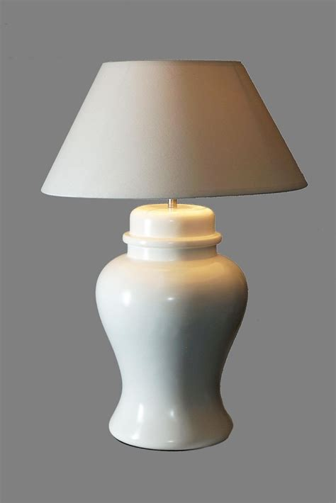 ginger jar l shades white lamp with a white shade ls