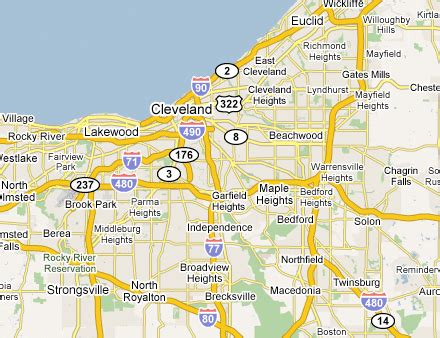 cleveland usa map cleveland metro area web design development firms on the