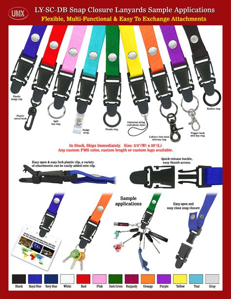 release lanyard fasteners 3 4 quot snap fastener release lanyard sles with