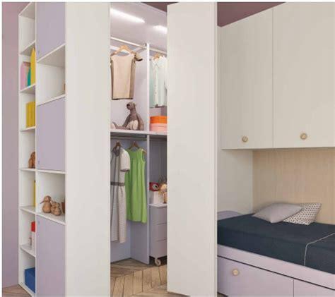 camerette per bambini con cabina armadio letto a biancovendita