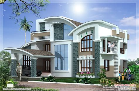 Luxurious House Plans by Modern Mix Luxury Home Design Kerala Home