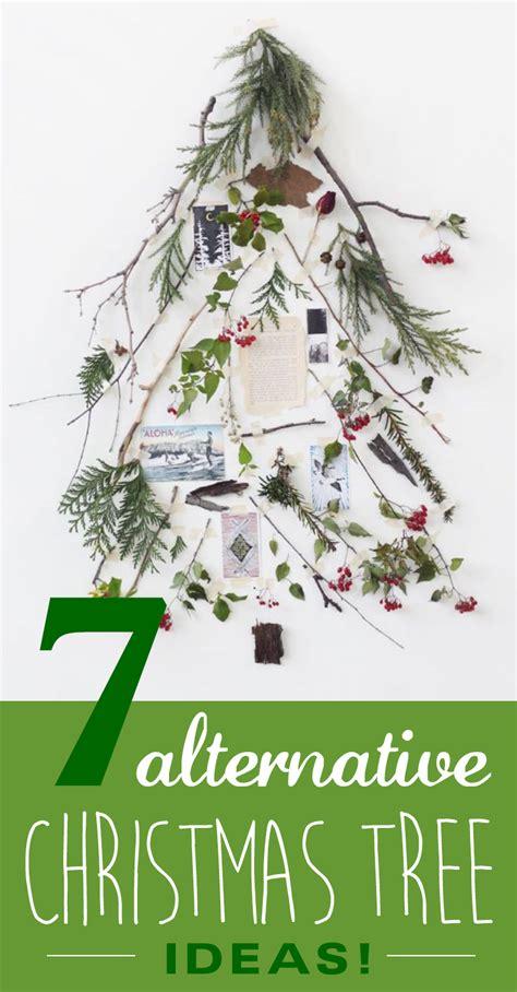 7 alternative christmas trees for a green christmas